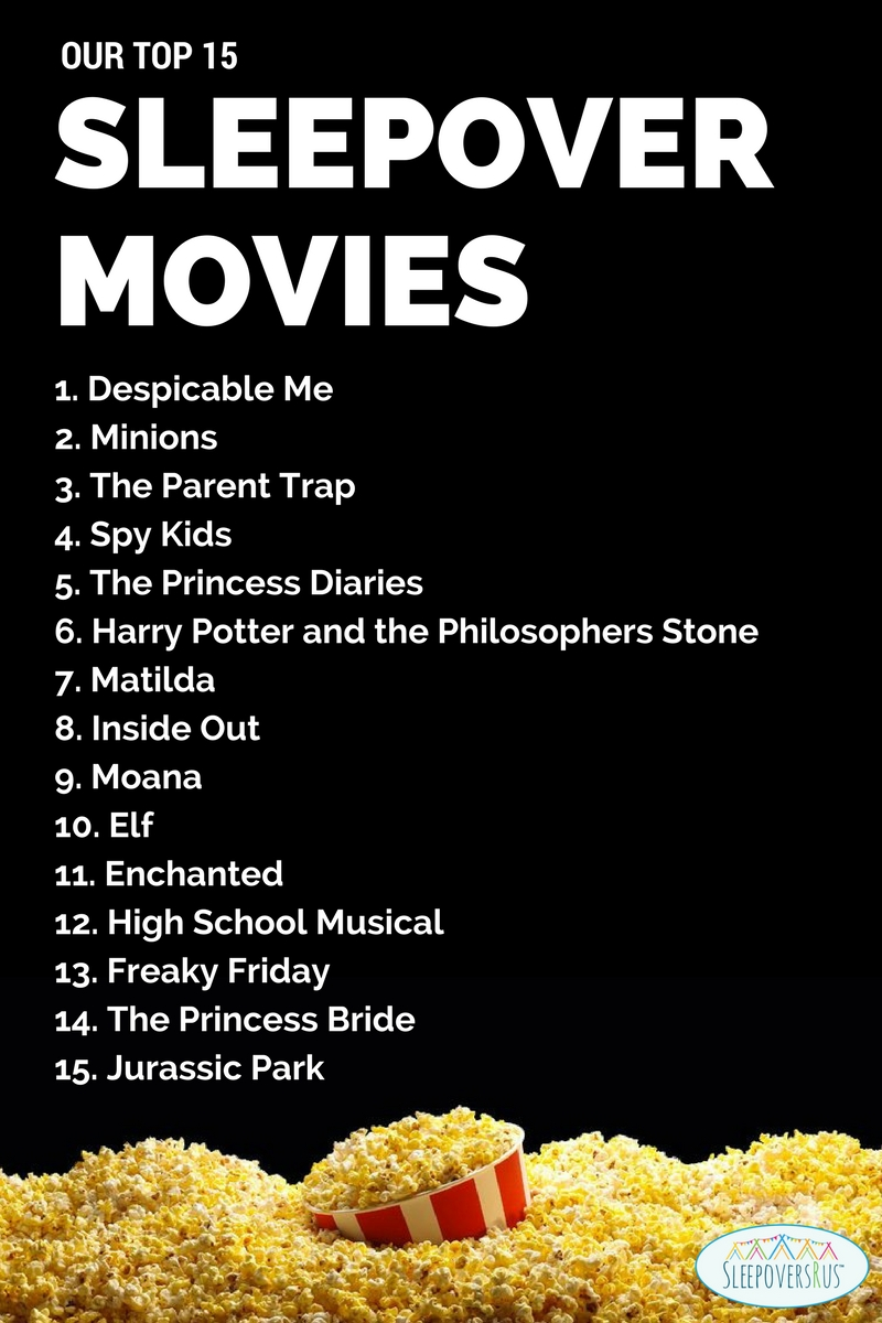 Movie Suggestions for Slumber Parties