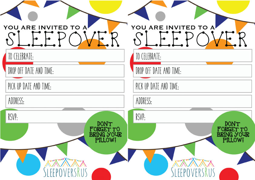 gone_dotty_boys Slumber Party invitations