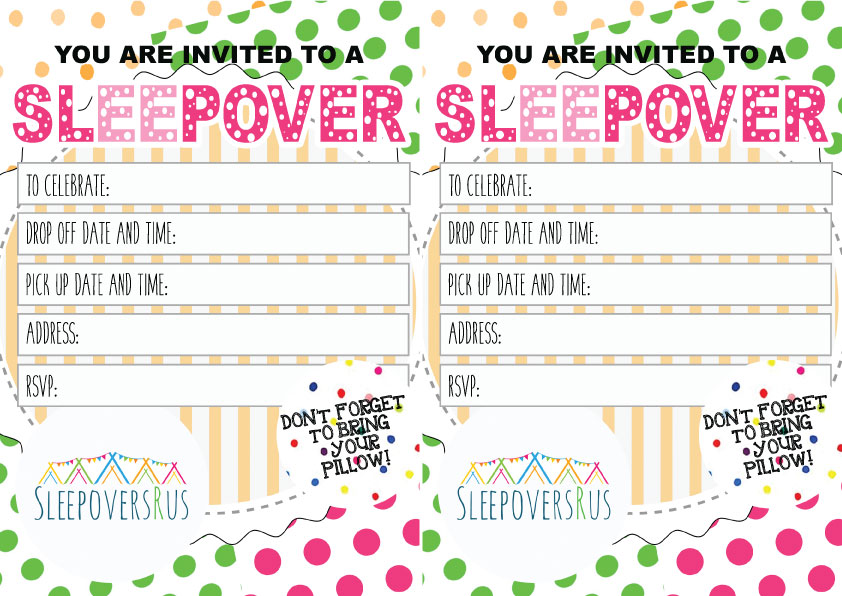 gone_dotty Slumber Party invitations