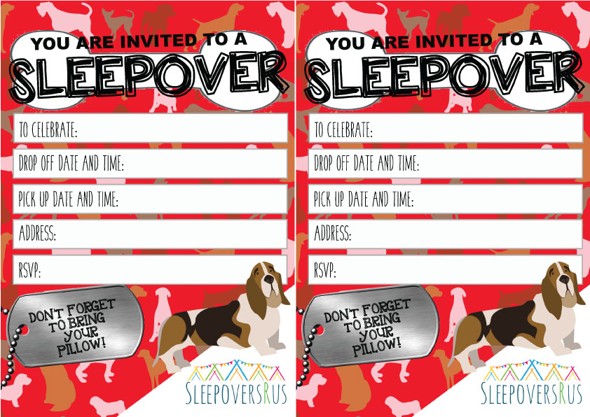 puppy_love Slumber Party invitations