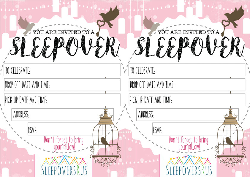 sugar_spice_bird_cage Slumber Party invitations