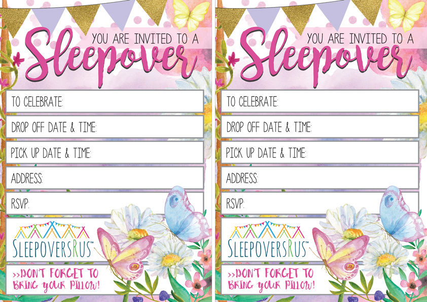 Slumber Party Invites - Sleepovers R Us
