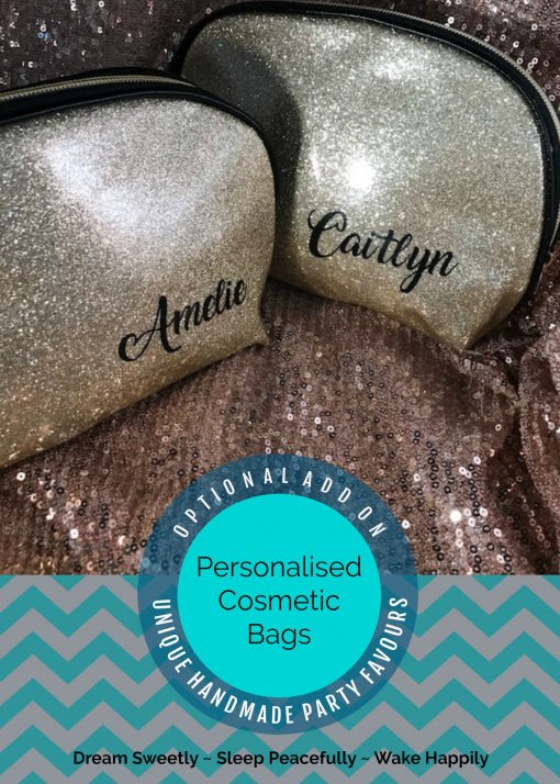 Personalised Gold Glitter Cosmetic Clutch