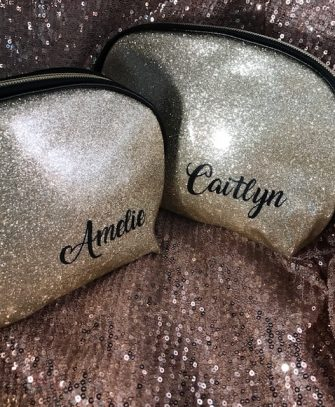 Personalised Cosmetic Clutch Toiletries Bag
